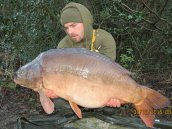 Dean Robinson with the mighty 'Nick' at 45lb 12ozs