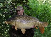 John Bartley with a 35lb 6oz common from a quick overnighter.